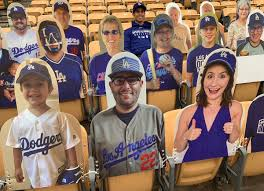 "Mario Ramirez on Twitter: ""Can you spot the phony in this shot?? Fans are  so excited about the 2020 season they've purchased personal cutouts as seat  fillers at @Dodgers Stadium. More information-https://t.co/QKCprEgEiC…"